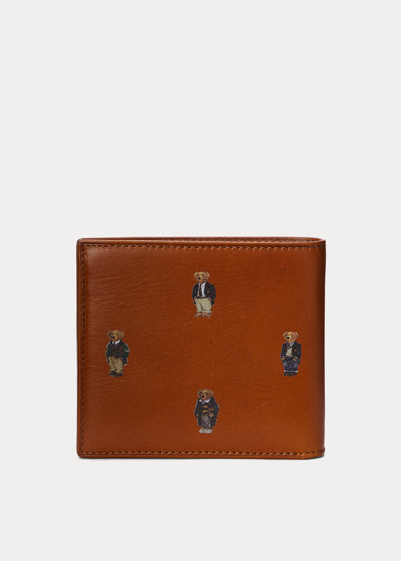Polo Bear Leather Billfold Wallet - BoUvy