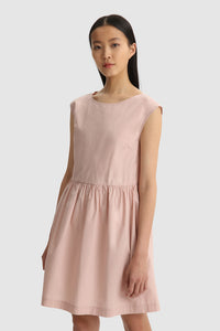Cap-sleeve Poplin dress - BoUvy