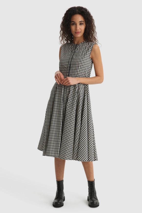 Patterned cotton long dress - BoUvy