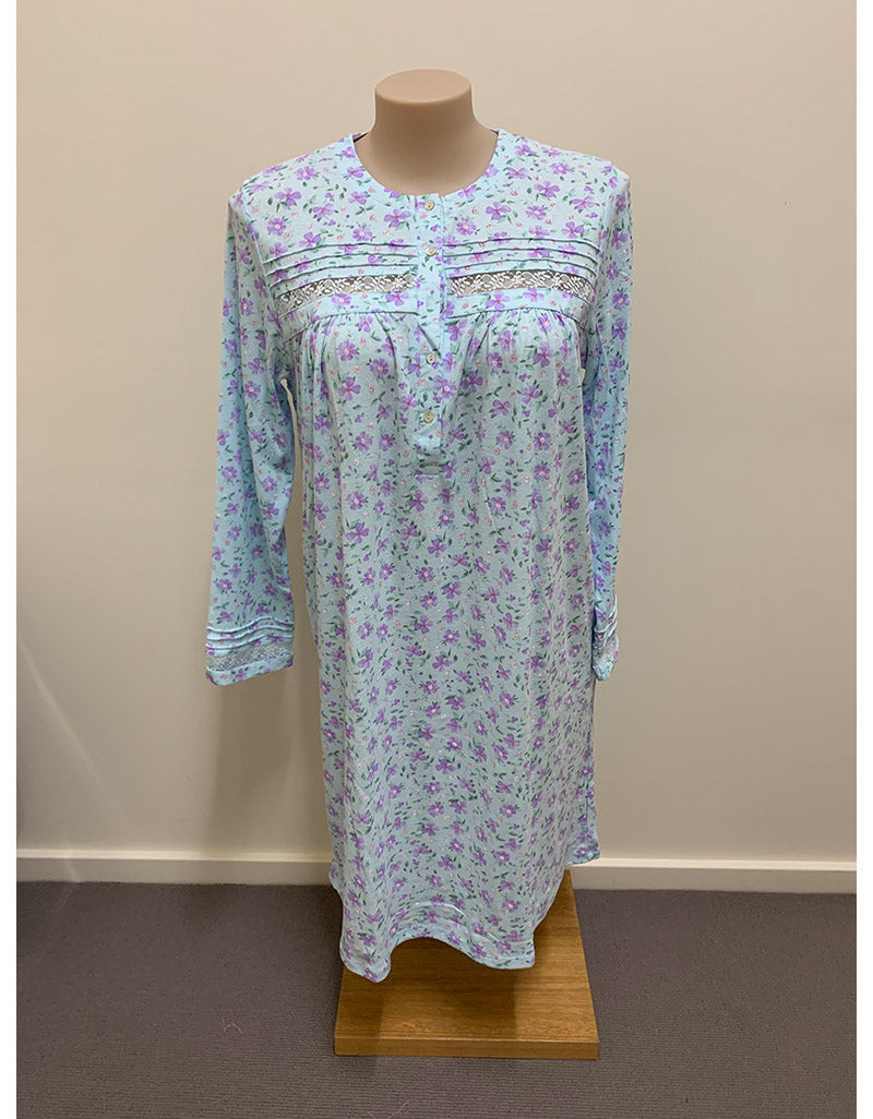 Shrank3/4 Length Poly-Cotton Nightie
