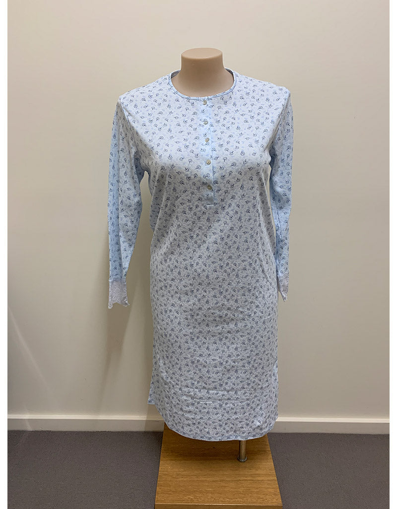 Shrank3/4 Length Poly Cotton Nightie