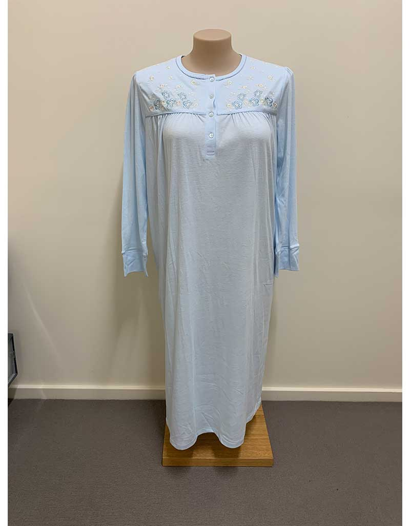 Shrank Long Poly Cotton Nightie