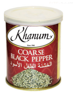 Khanum Coarse Black Pepper 2x6x100g