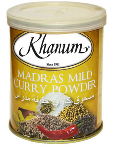 Khanum Madras Mild Curry Powder 2x6x100g
