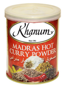 Khanum Madras Hot Curry Powder  2x6x100g