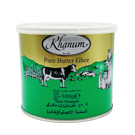 Khanum Pure Butter Ghee (non Ethyl Butyrate) 12x500g