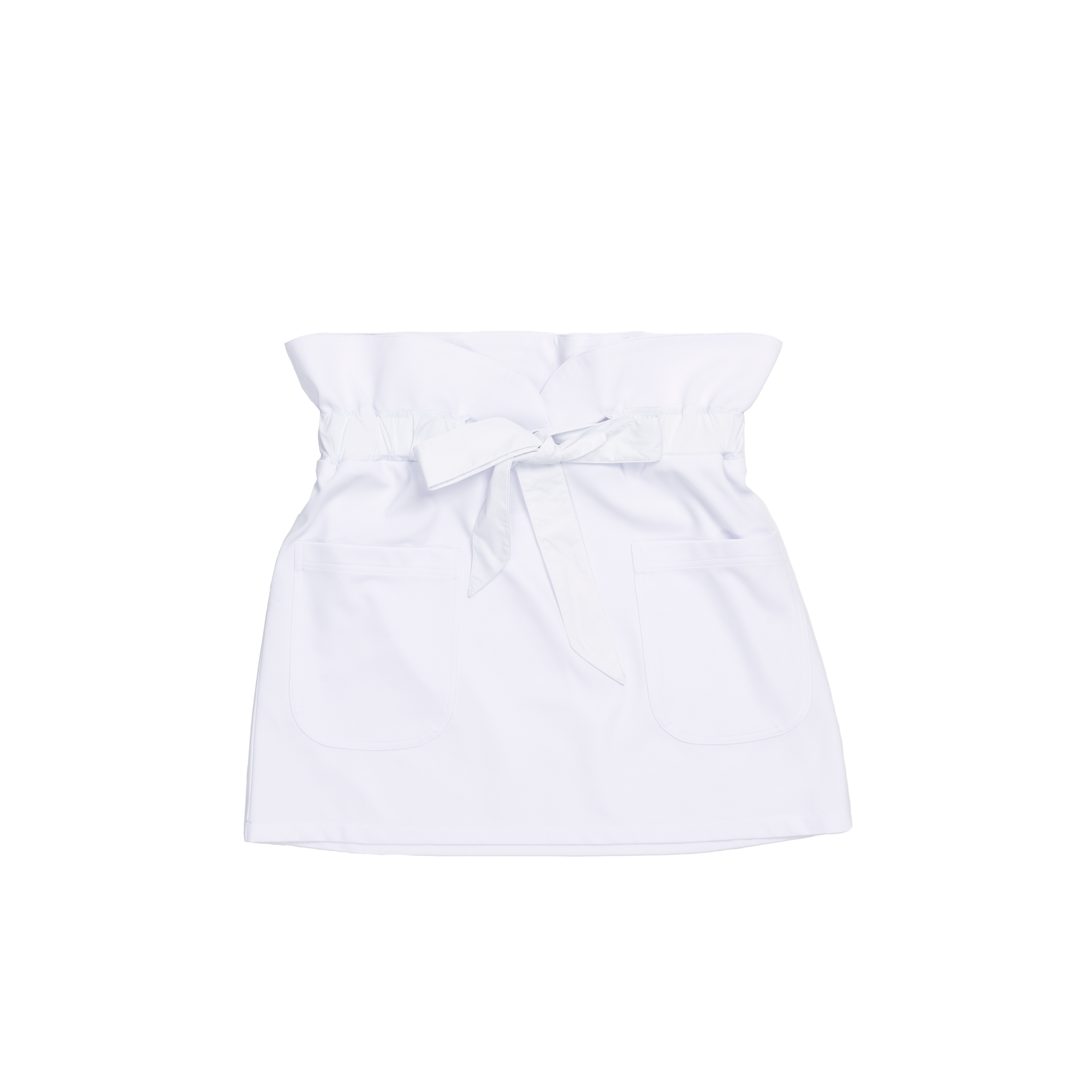 Serena Tie Skirt Front White | Guerriers