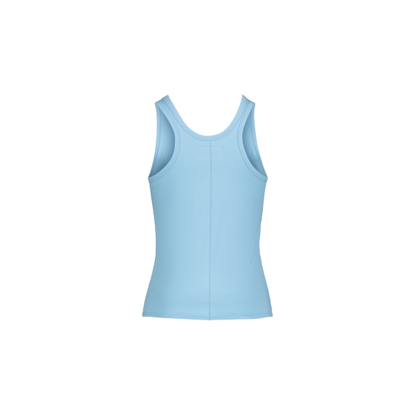 Wilma Stretch Tank Back Blue | Guerriers