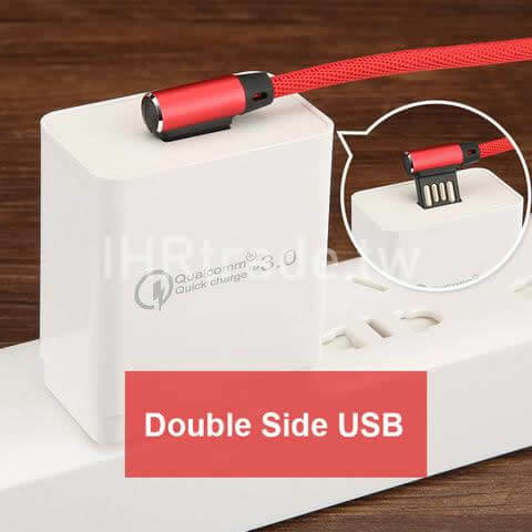 Ihrtrade,Creative 3C,DS30088_Cable,Right Angle Micro Usb Cable,Right Angle Micro Usb Adapter