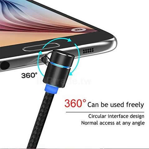 Ihrtrade,Electronics,8111524,Power 360 Charging Cable,360 Rotating Charger,Magnetic 360 Degree Rotatable Fast Charging Cable