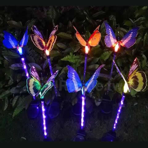 Ihrtrade,Home & Kitchen,805834908,Solar Butterfly Stakes,Solar Butterfly Garden Stakes