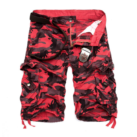 Ihrtrade Outdoor NCFS00102RC Mens Red Cotton Cargo Shorts