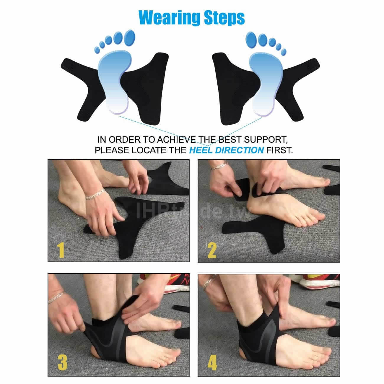 Ihrtrade,Travel & Outdoors,26605471-left-foot,Ankle Brace For Sprain,Ankle Braces For Volleyball