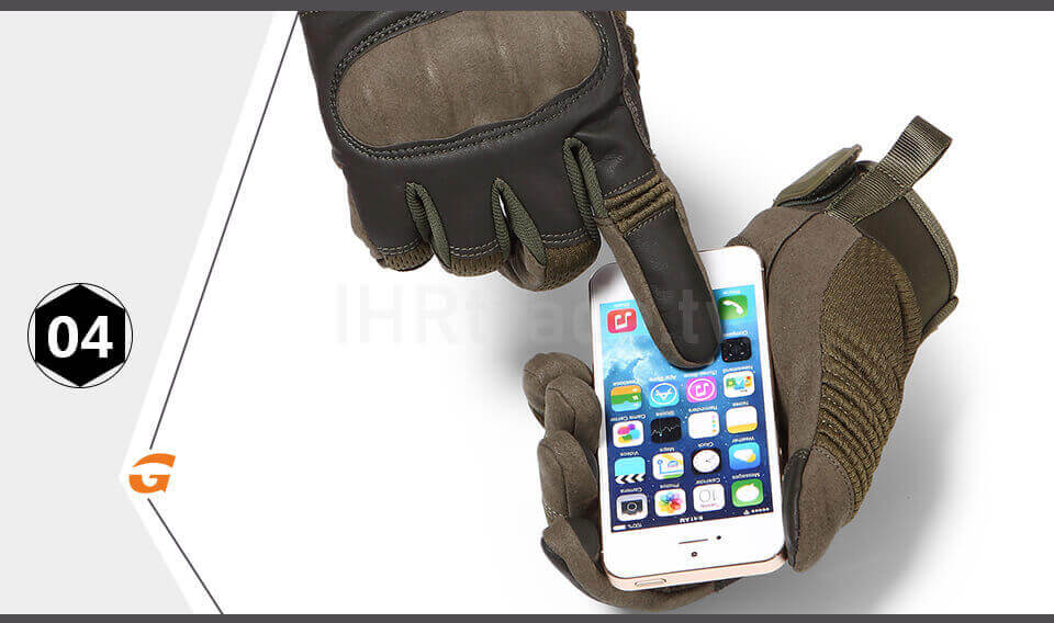 Ihrtrade,Tactical Gloves,NCHW00116B8,Tactical shooting gloves,Leather tactical gloves