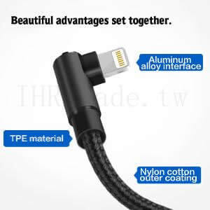Ihrtrade,Creative 3C,DS30088_Cable,Right Angle Iphone Charging Cable,Right Angle Charging Cable Iphone