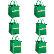 IHRtrade Reusable Shopping Trolley Bags Grab and Go Bag Collapsible Grocery Tote Bags with Handles