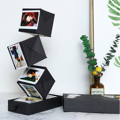 Ihrtrade Surprise Black Bounce Gift Box DIY Handmade Photo Album
