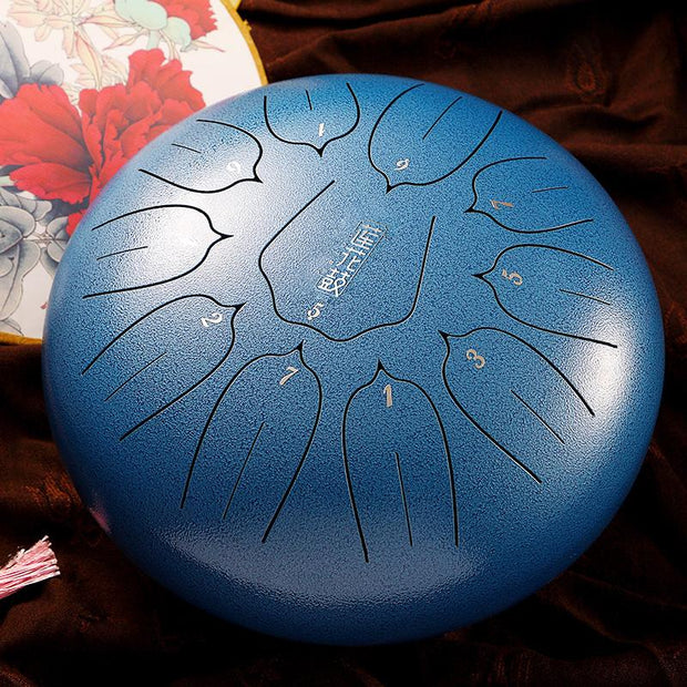 HLURU® Lotus Hand Pan Alloy Steel Tongue Drum 12'' 11 Tone C Key - 12 Inches / 11 Notes (18 colors),Garden Light Solar