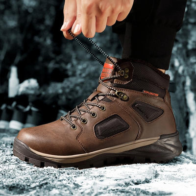 IHRtrade Waterproof Winter Men Warm Snow Boots