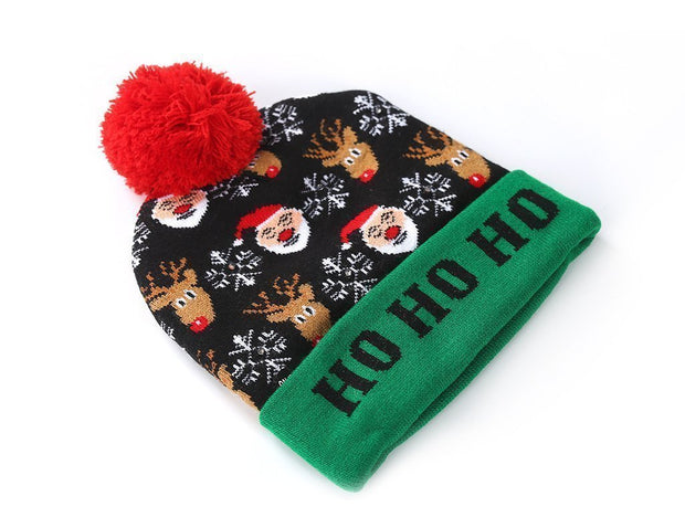Ihrtrade Christmas LED Beanies