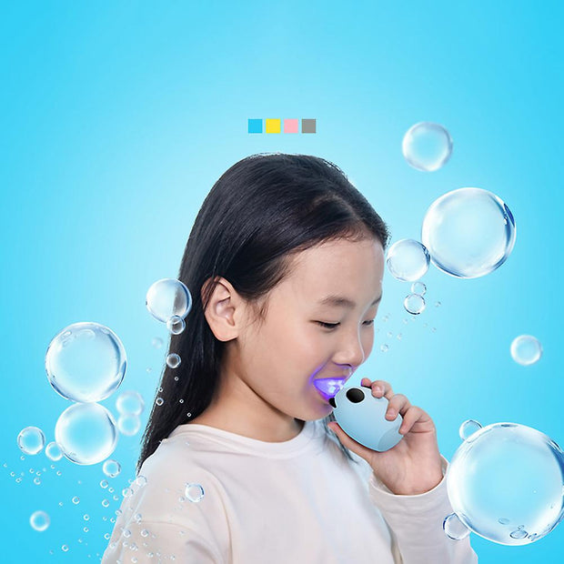 IHRnia Kids Cute Cartoon U-Shaped Electric Automatic Toothbrush,Colored Contact Lenses