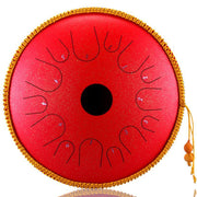 iHRtrade HLURU - Alloy Steel Tongue Drum (6/8/10/12/14/16 Inches * 8/11/13/14 Notes)(10 colors)