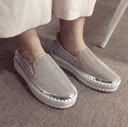 Ihrtrade Women Casual Fashion Rhinestone Slip-on Loafers