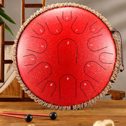 HLURU® Professional Performance Carbon Steel Tongue Drum 13 Inches 15 Notes D Key Handpan Drum,USB C Charger
