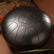 HLURU® Hand Pan Alloy Steel Tongue Drum 11 Tone C Key Square Tongue - 12 Inches / 11 Notes,Garden Light Solar