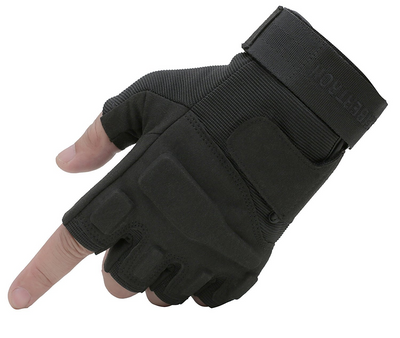 IHRtrade Military 1/2 Finger Fingerless Half Finger Tactical Airsoft Hunting Riding Cycling Gloves Outdoor Sports Athletic Biking
