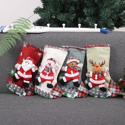 Ihrtrade Christmas Stocking Gift & Candy Bags (4 Pcs)