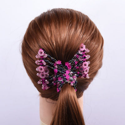 Ihrtrade Flexible Butterfly Hair Clip (8 Colors & 8 Styles)