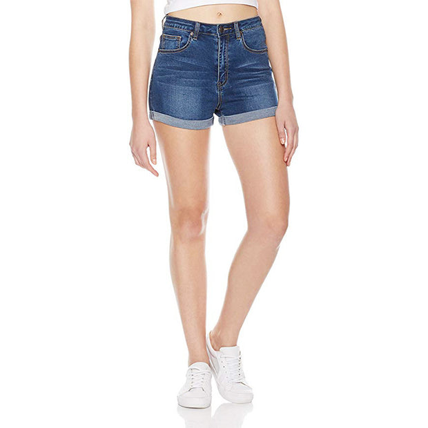 "Ihrtrade 6"" Mid Rise Rolled cuffs Denim Shorts"