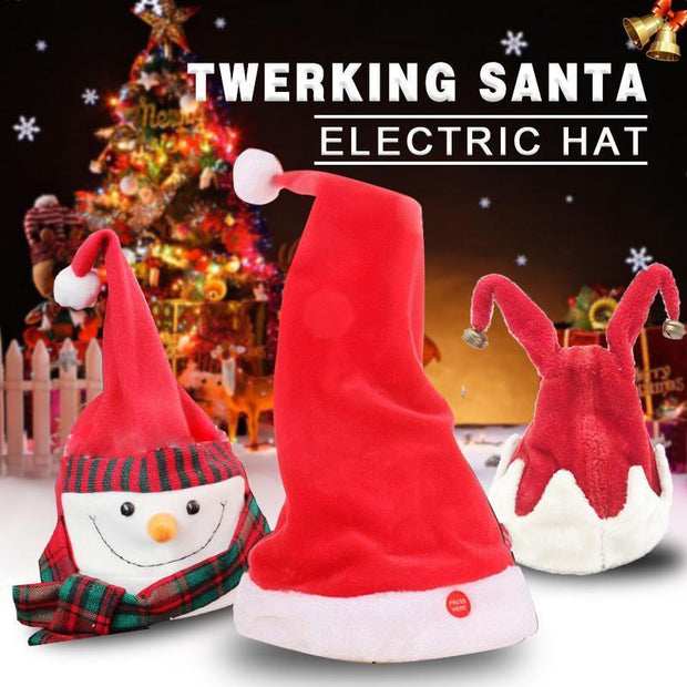 Ihrtrade Twerking Santa Electric Hat (5 types)