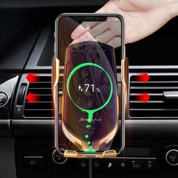Ihrtrade Wireless Automatic Sensor Car Phone Holder and Charger