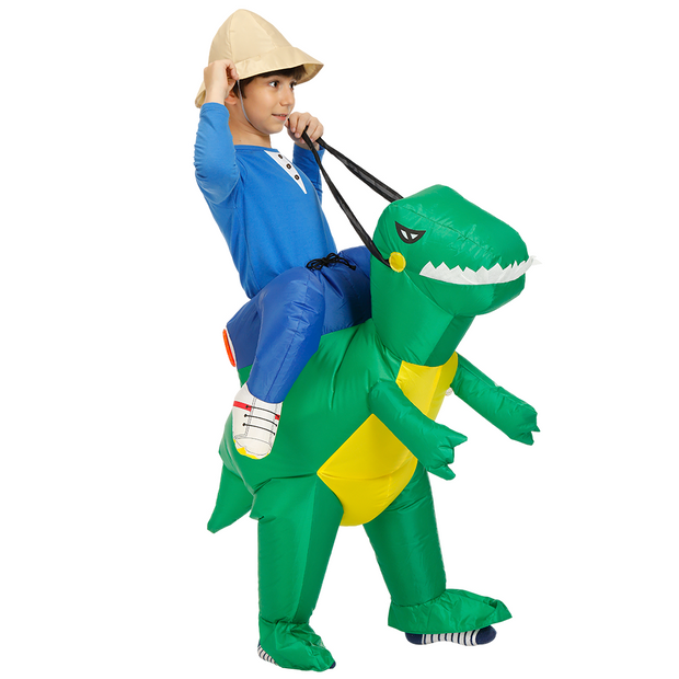 Ihrtrade Green Alien Carrying Human Costume (2 Types & 4 Sizes)