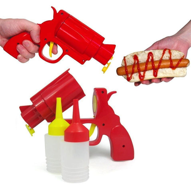Containers can be loaded into the pistol for a fun trigger-dispense