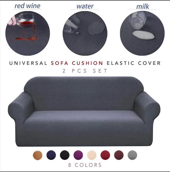 Ihrtrade Universal Sofa Cushion Elastic Cover (12 Colors)