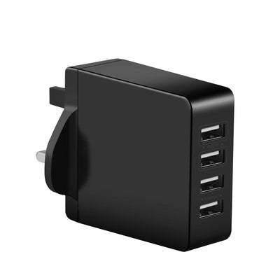 Ihrtrade 4 Ports USB Wall Charger Built in Smart IC 5V / 7.2 Amps for Smartphones and Tablets