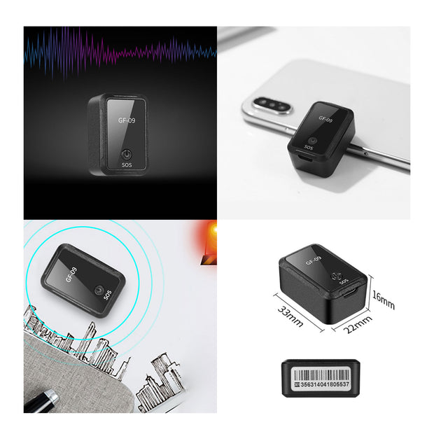 IHRneeria Magnetic Mini Car GPS Tracker Real Time Tracking Locator Device Voice Control Callback