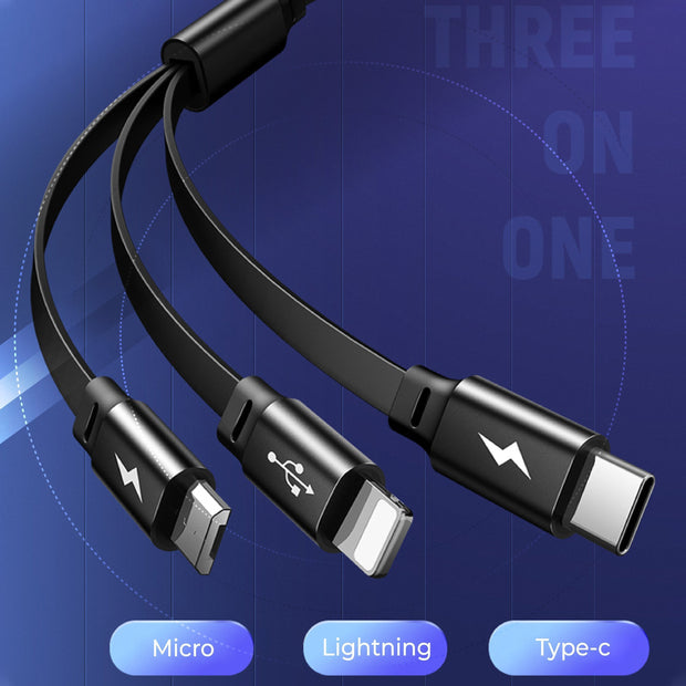 Ihrtrade 3 In 1 Telescopic Data Line (4 Colors)