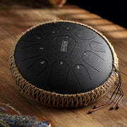HLURU® Professional Performance Carbon Steel Tongue Drum 12.5 Inches 11 Notes C Key Handpan Dru,USB C Charger