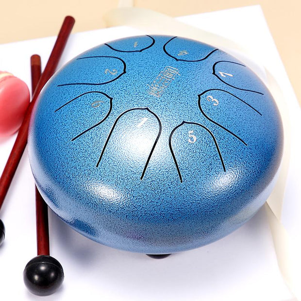 HLURU® Lotus Hand Pan Alloy Steel Tongue Drum 6'' 8 Tone C Key For Children - 6 Inches / 8 Notes (16 colors),Garden Light Solar