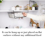 Ihrtrade Under Shelf Basket Organizer (2 types & 3 colors & 2 sizes)