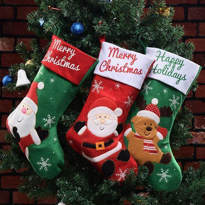 Ihrtrade Christmas Stocking Gift Bags (4 Pcs)