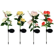 Ihrtrade Artificial Rose Flower Solar Garden Stake Lights (1 Pack of 3 Lilies)