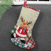 IHRneeria Christmas Stocking Gift & Candy Bags (4 Pcs)