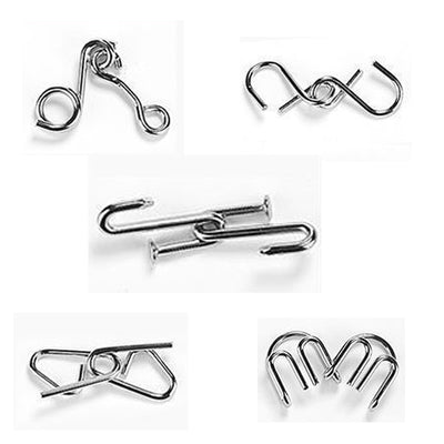 Ihrtrade Nine Interlocking Rings Link (5 types - without boxes)