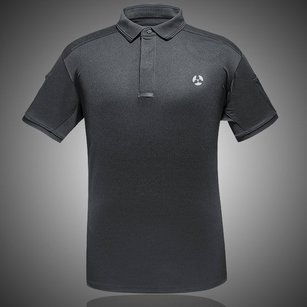 IHRtrade Archon Tactical Polo Short Shirt For Men Moisture Wicking Quick Dry Performance