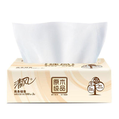Wholesale & Retail Primary Wood Pulp 100 Pumping 3 Layers Toilet Paper Pumping Napkin Paper